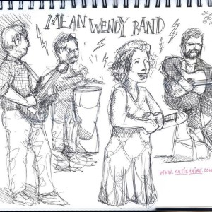 Mean Wendy Band Sketched by katie Haire