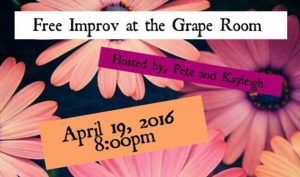 Grape Room April 19th